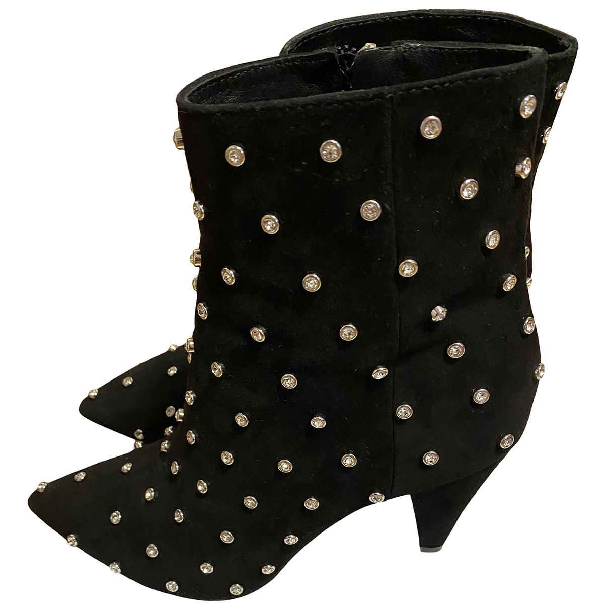 Alice & Olivia - Boots   pour femme en cuir - noir