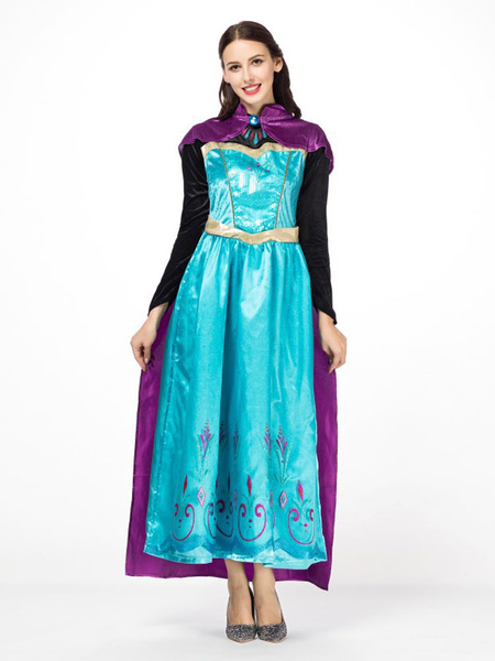 Milanoo Elsa Frozen Costume Halloween Women Dresses And Cloak