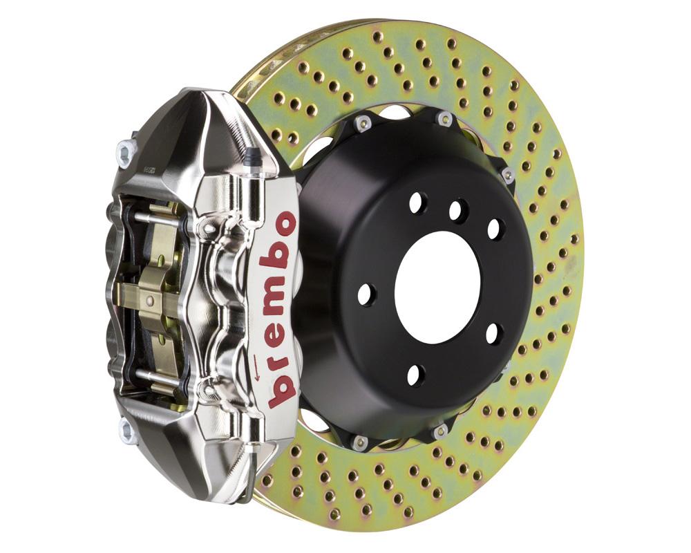 Brembo GT-R 380x28 2-Piece 4 Piston Nickel Plated Drilled Rear Big Brake Kit