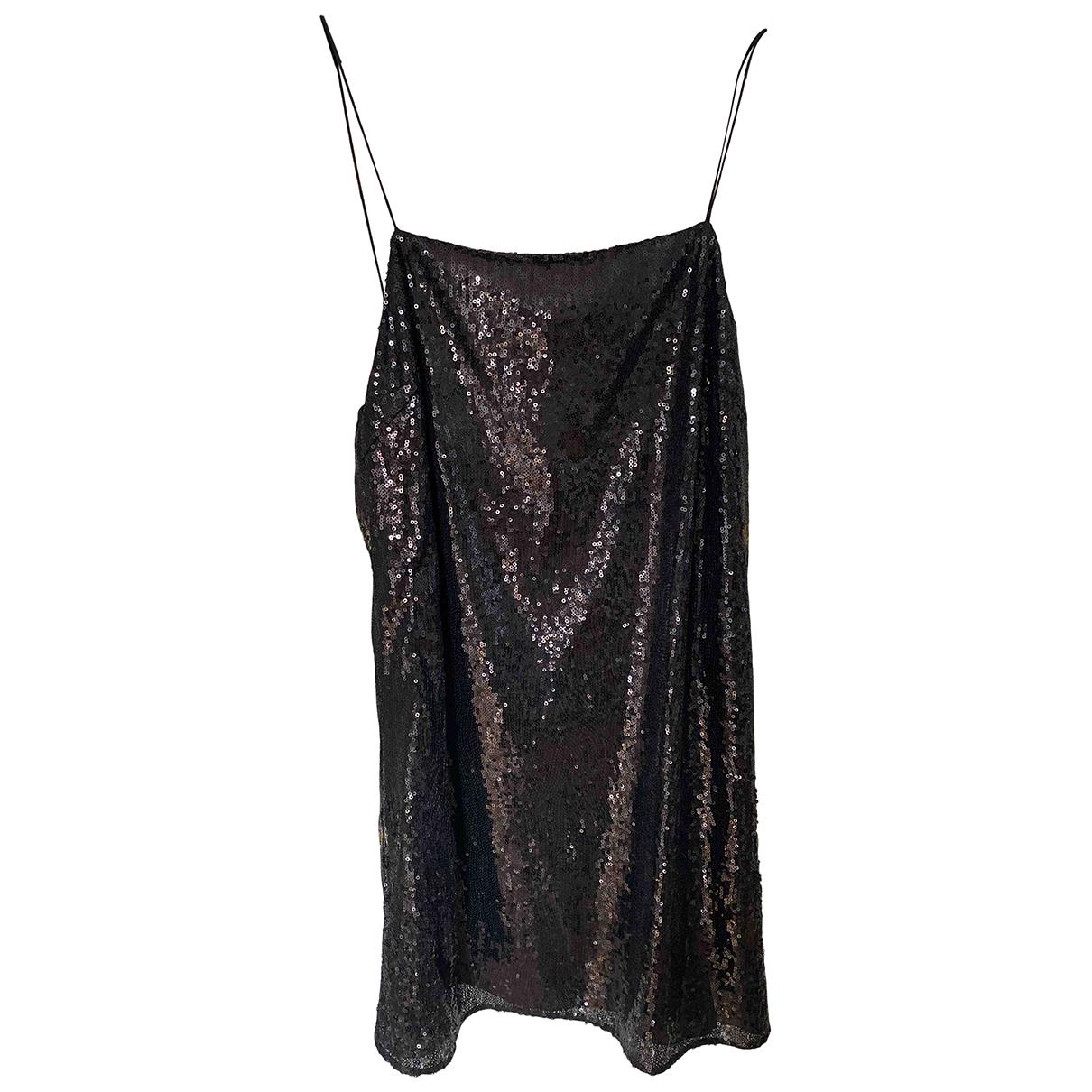 Saint Laurent \N Black Glitter dress for Women 36 FR