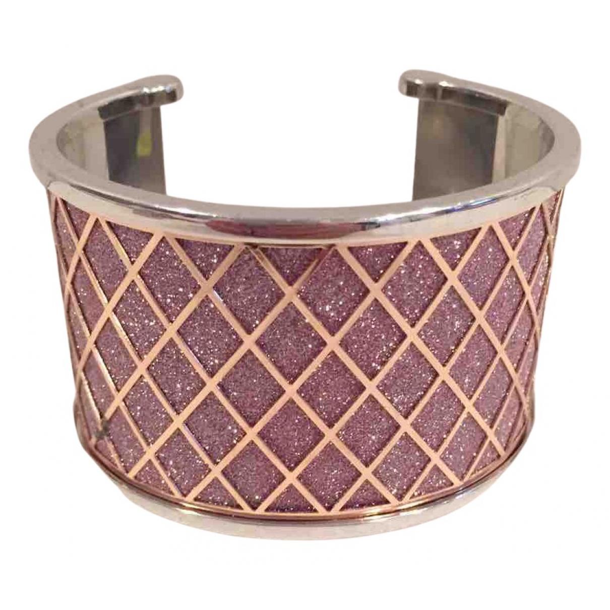 - Bracelet Manchette pour femme en metal - rose