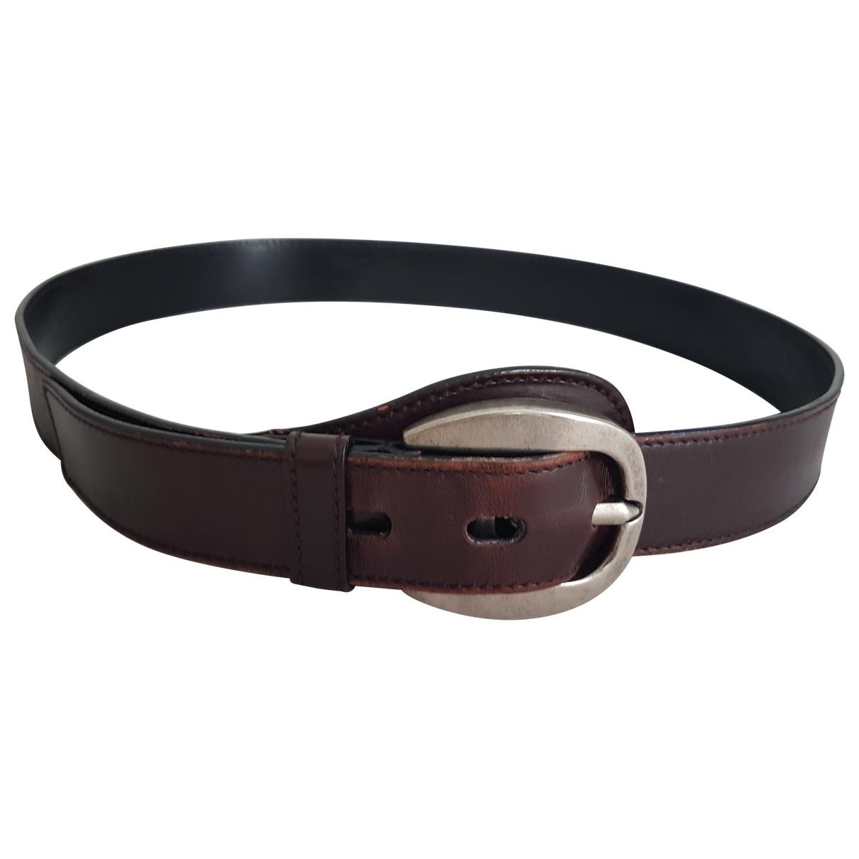 Yves Saint Laurent \N Brown Leather belt for Women 95 cm