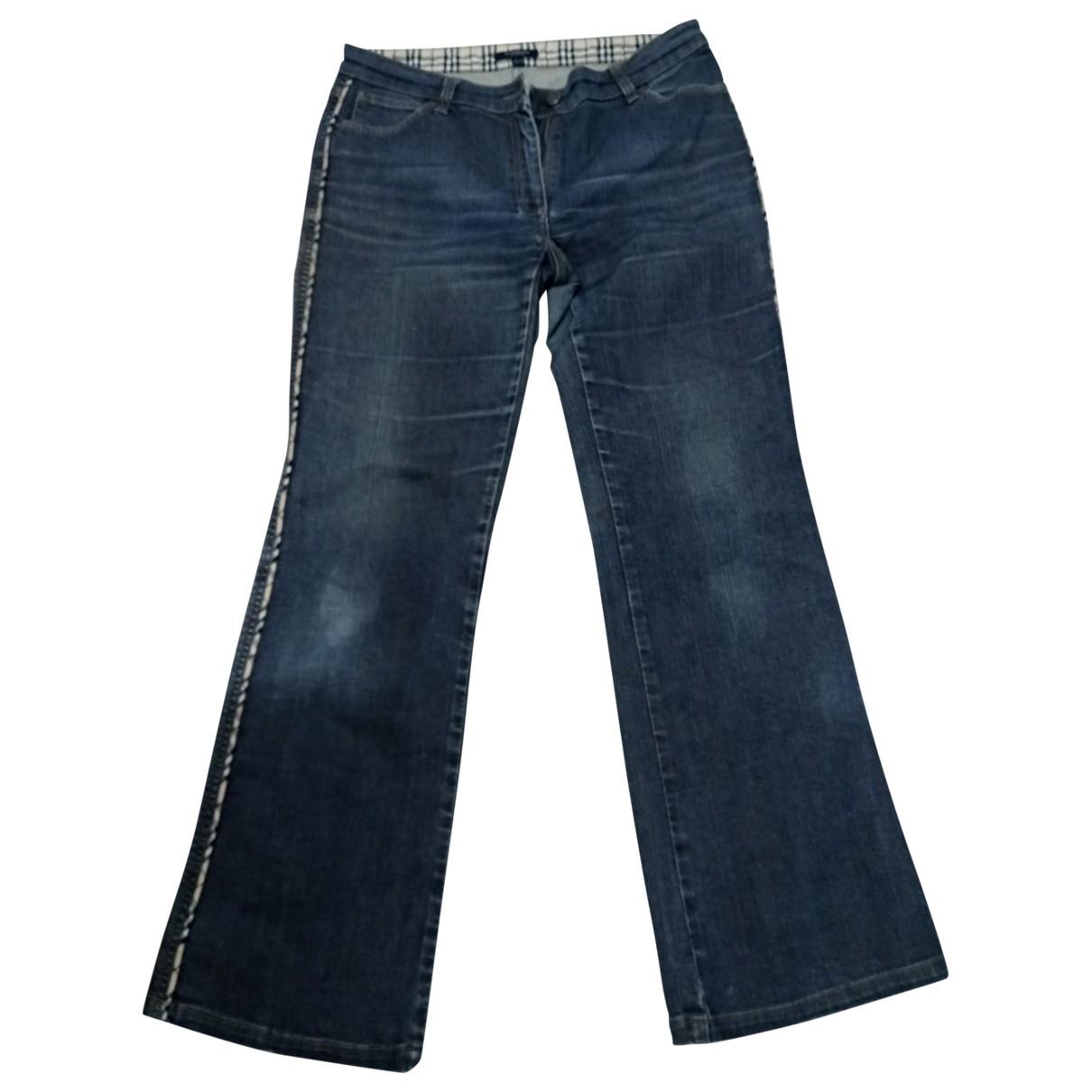 Burberry \N Blue Denim - Jeans Trousers for Women 40 FR