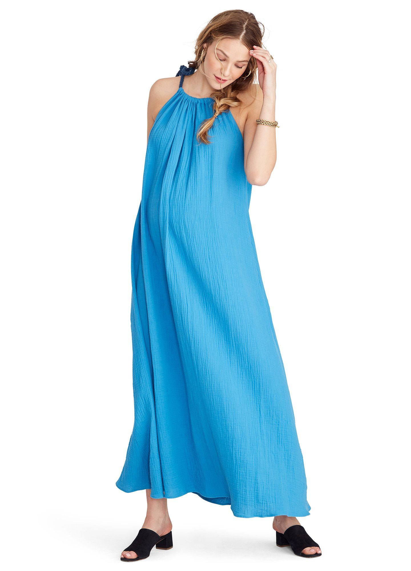 HATCH Maternity The Sienna Dress, Ocean, Size P