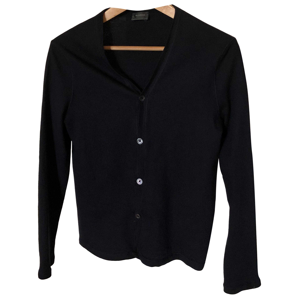 Jil Sander \N Pullover.Westen.Sweatshirts  in  Marine Wolle