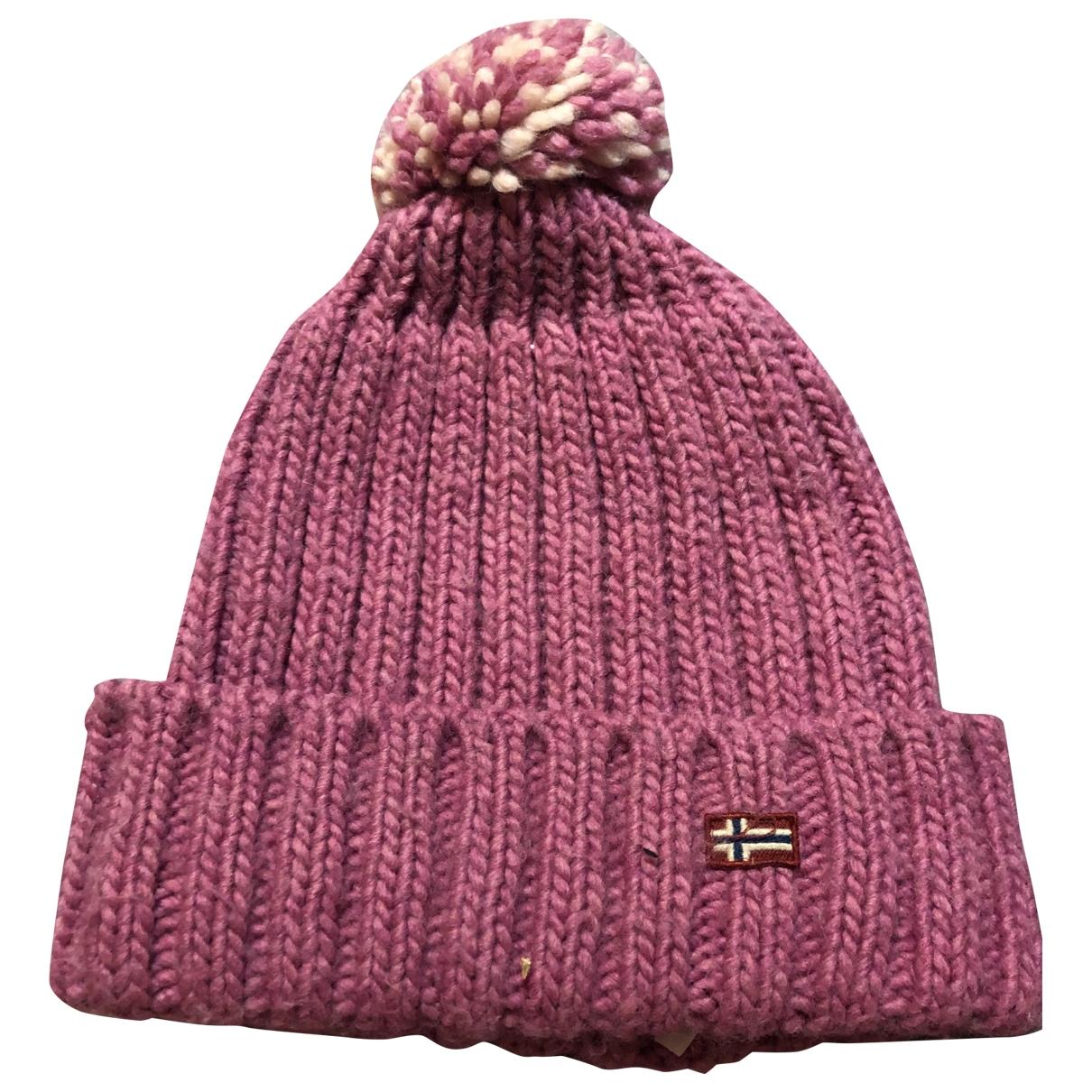 Napapijri - Chapeaux.Bonnets.Gants   pour enfant en laine - rose