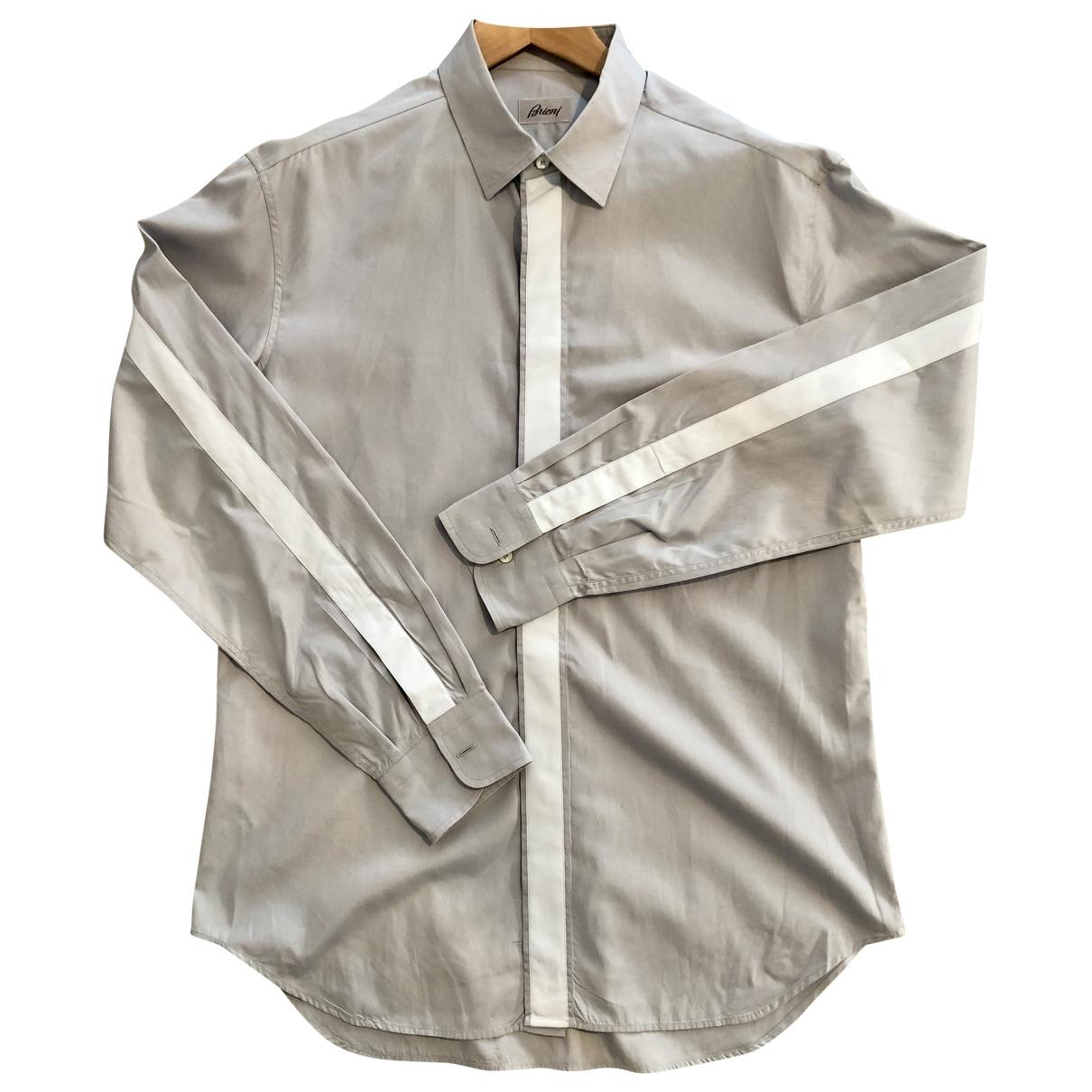 Brioni \N Hemden in  Grau Baumwolle