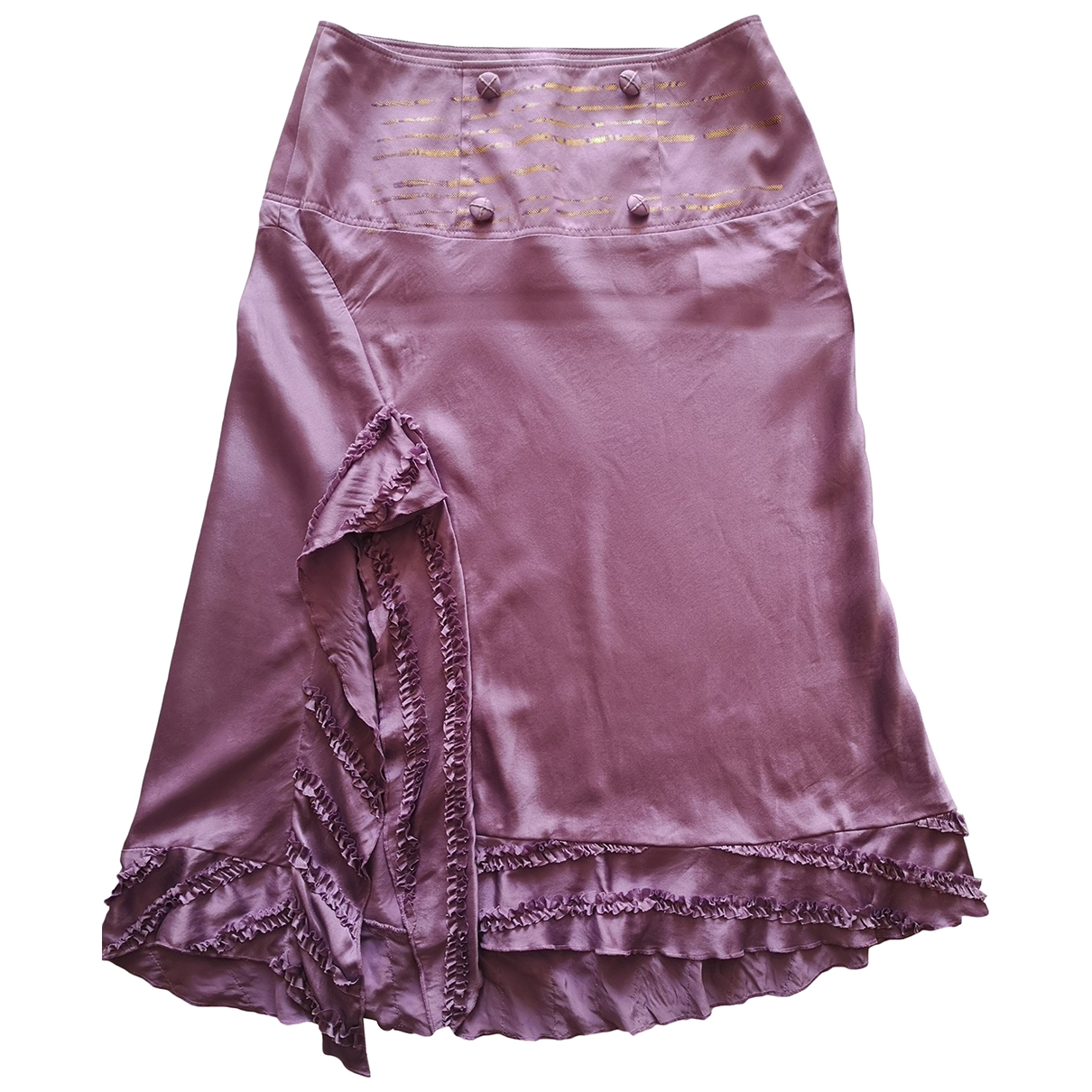 Hugo Boss \N Purple Silk skirt for Women 36 FR