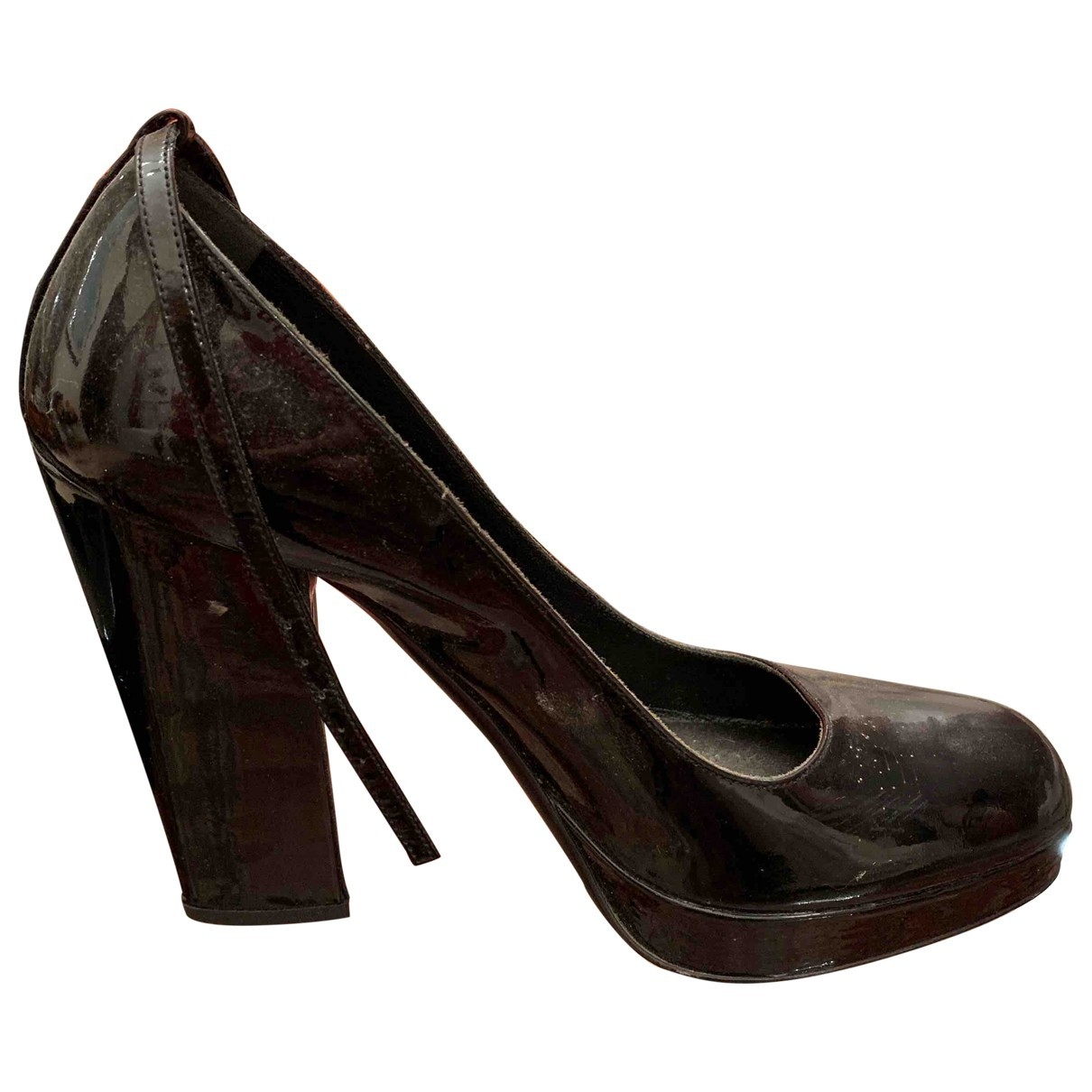 Prada \N Black Patent leather Heels for Women 39 EU