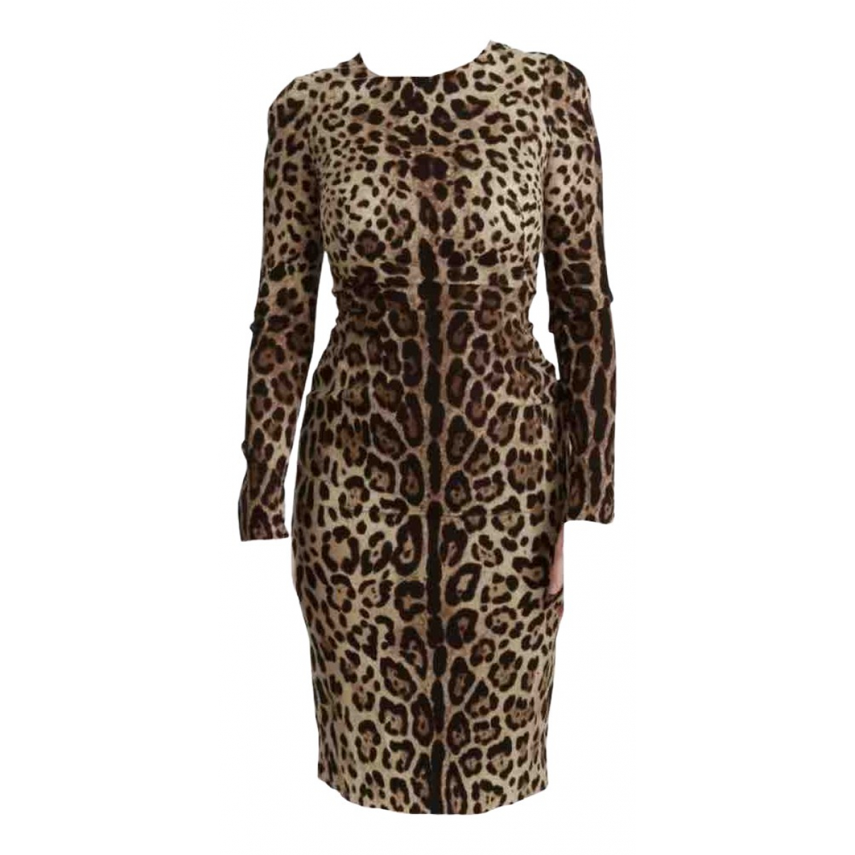 Dolce & Gabbana - Robe   pour femme en soie - marron