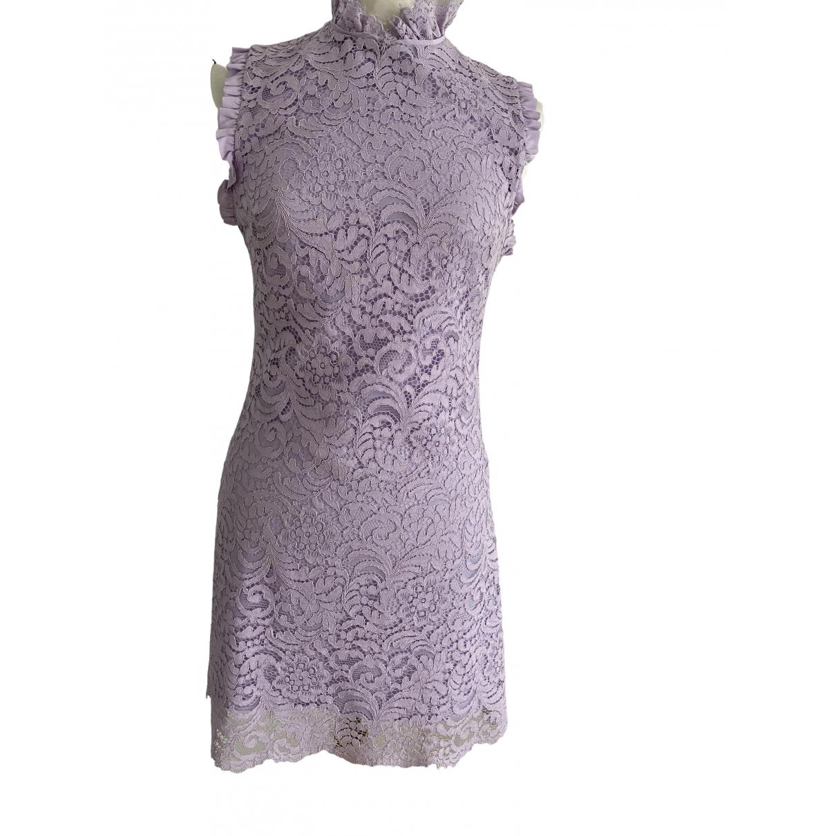 Sandro Spring Summer 2019 Purple Cotton dress for Women 34 FR