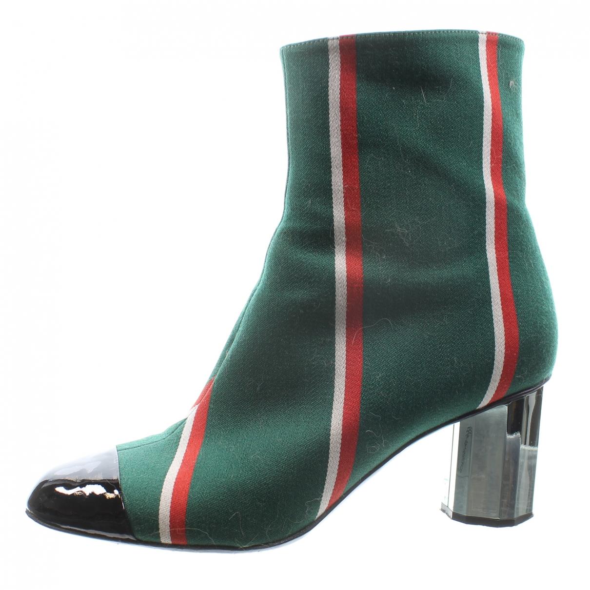 Marco De Vincenzo - Boots   pour femme en toile - vert