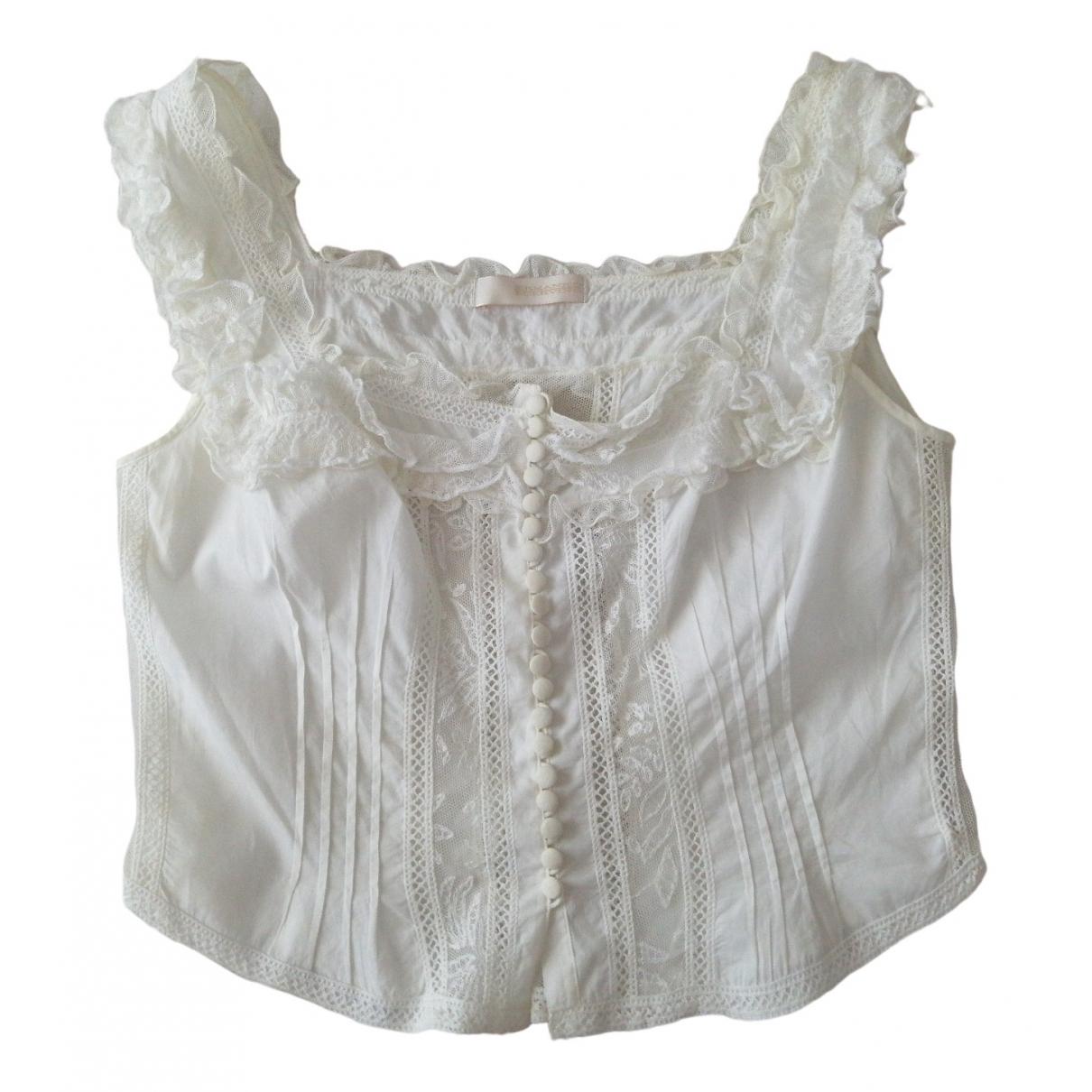Ermanno Scervino \N White Cotton  top for Women 44 IT