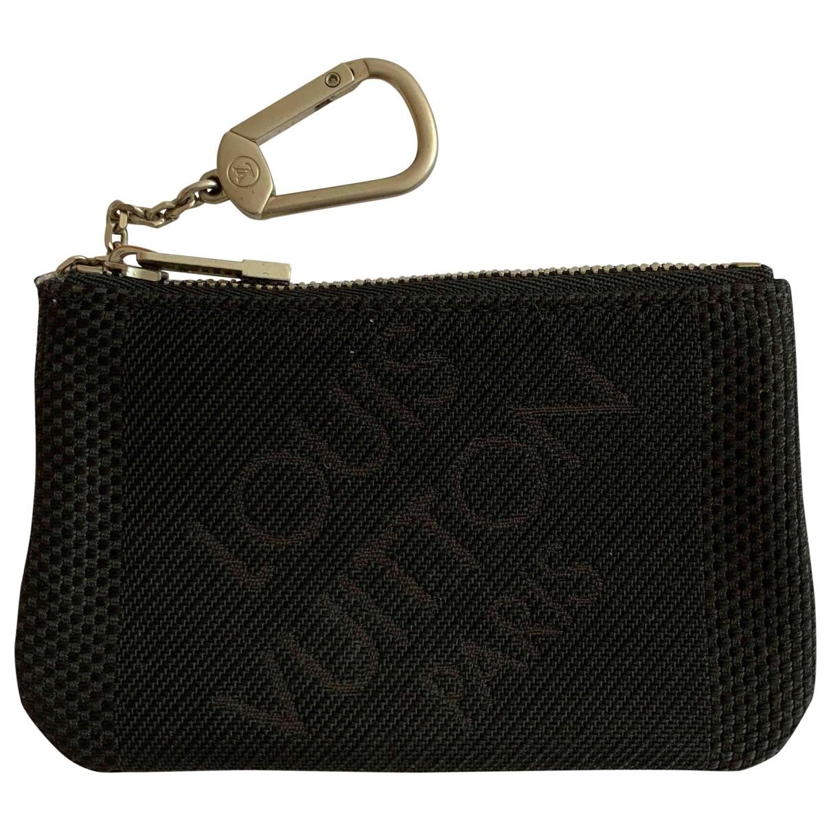 Louis Vuitton Key Pouch Black Cloth Small bag, wallet & cases for Men \N