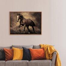 Wandmalerei mit Pferd Muster ohne Rahmen