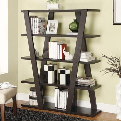 800318 Bookcases Modern Bookshelf with Inverted Supports & Open
