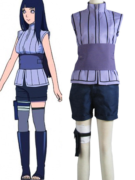 Milanoo Halloween Naruto Hinata Hyuga Halloween Cosplay Disfraz The Movie The Last