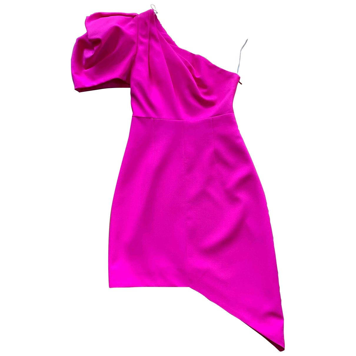 Saint Laurent - Robe   pour femme en laine - rose