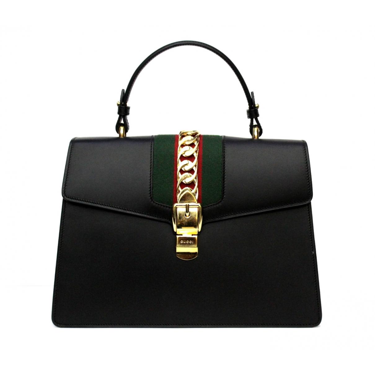 Gucci - Sac a main Sylvie pour femme en cuir - noir