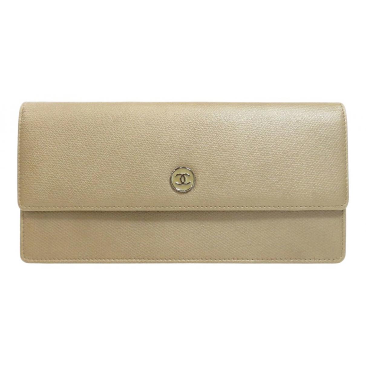 Chanel - Portefeuille   pour femme en cuir - dore