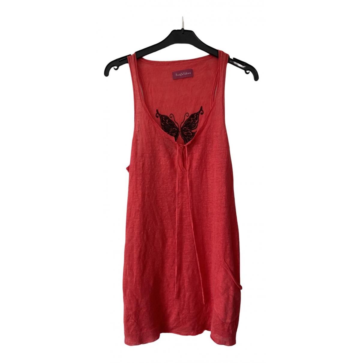 Zadig & Voltaire - Top   pour femme en lin - rouge