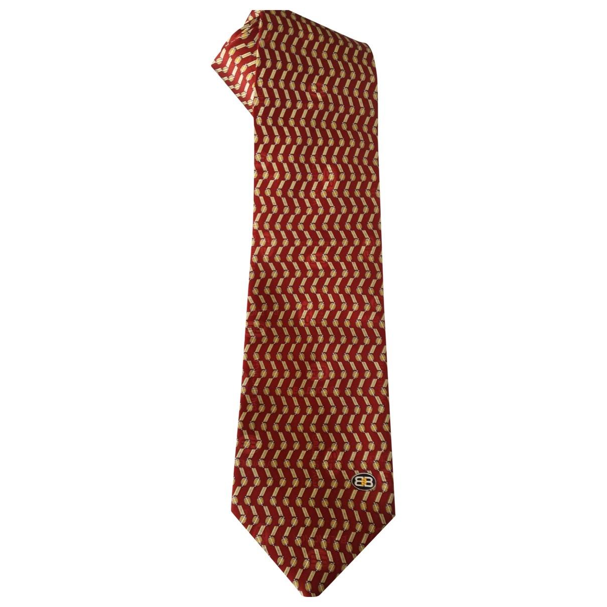 Balenciaga - Cravates   pour homme en soie - bordeaux