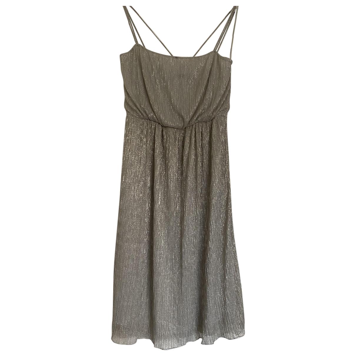 Zara \N Kleid in  Metallic Polyester