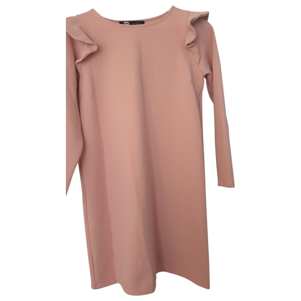 - Robe   pour femme en coton - elasthane - rose