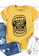 If You Aren't Angry You're Not Paying Attention T-Shirt Tee - Yellow