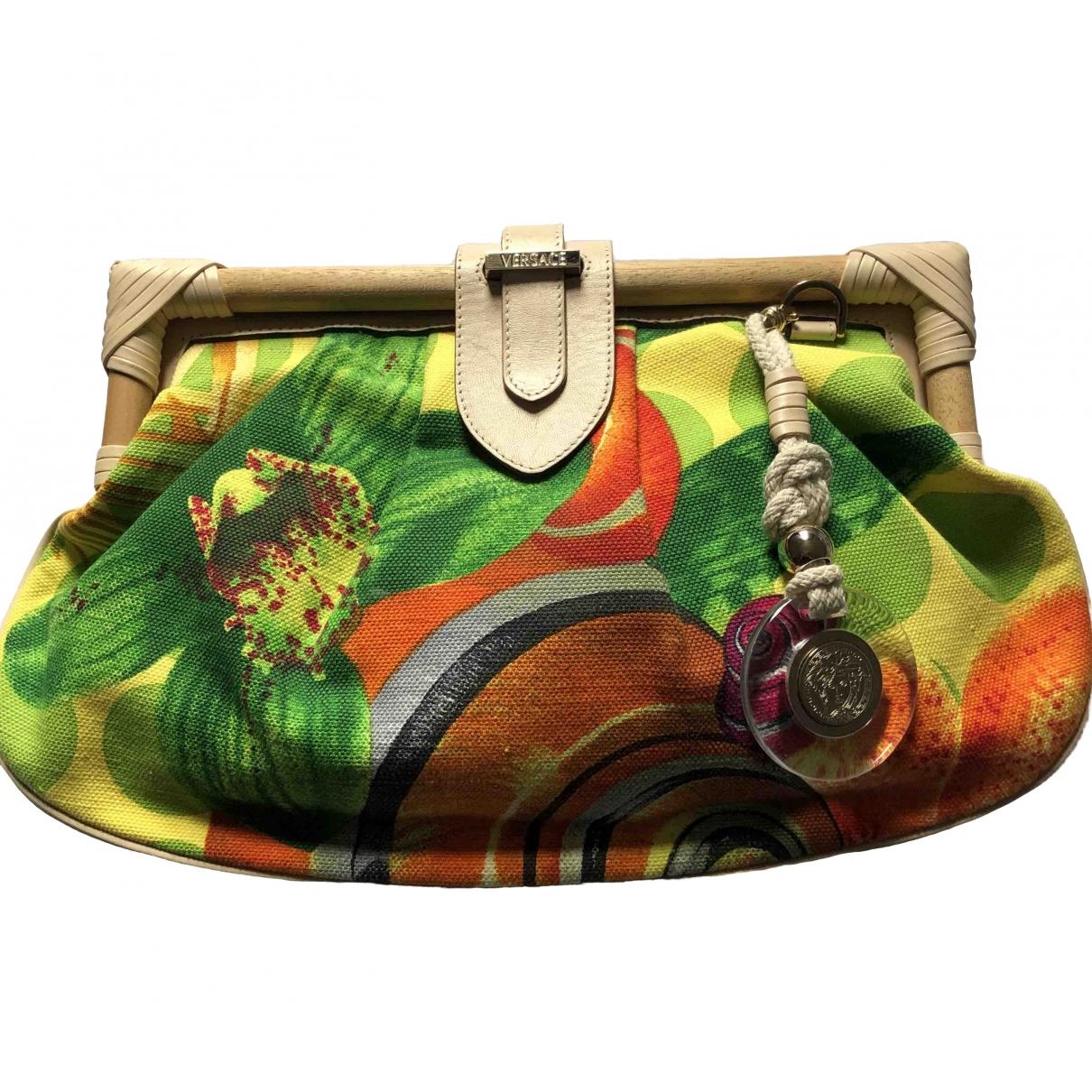 Bolsos clutch en Algodon Multicolor Versace