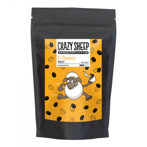 Gemahlener Kaffee Crazy Sheep Kaffeemanufaktur El Classico Kaffee, 250 g