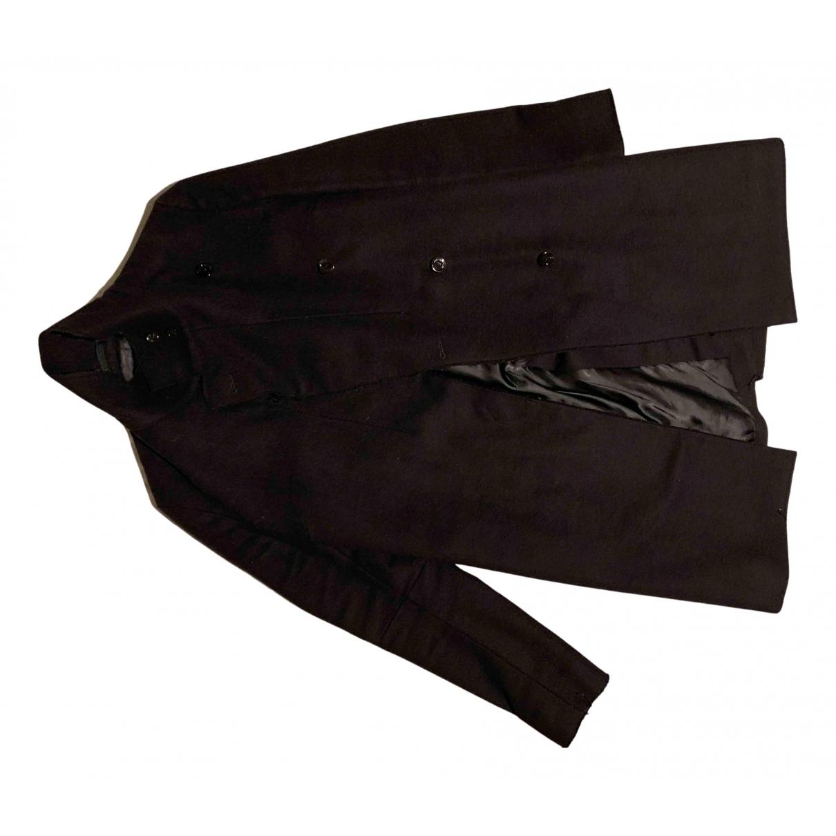 Costume National N Black Wool coat for Women 40 IT