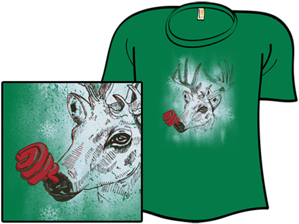 Green-nosed Reindeer T Shirt