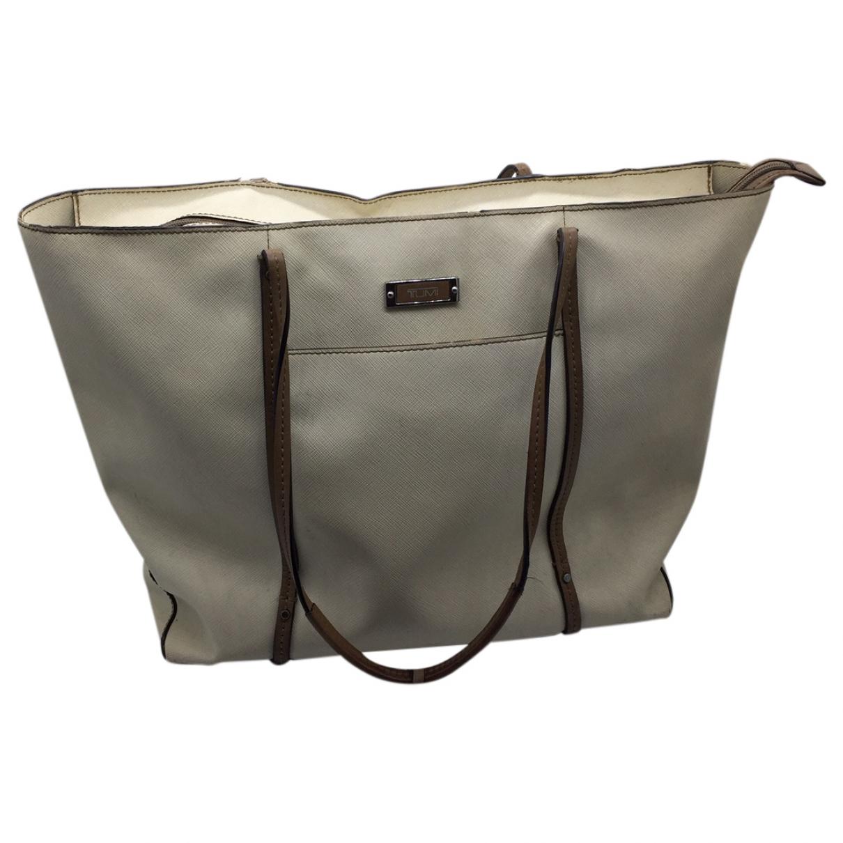 Tumi \N Beige Leather handbag for Women \N