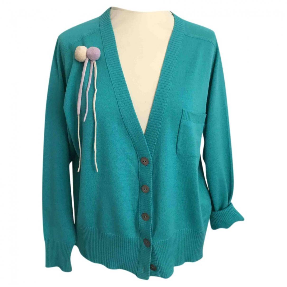 Christian Lacroix - Pull   pour femme en laine - turquoise