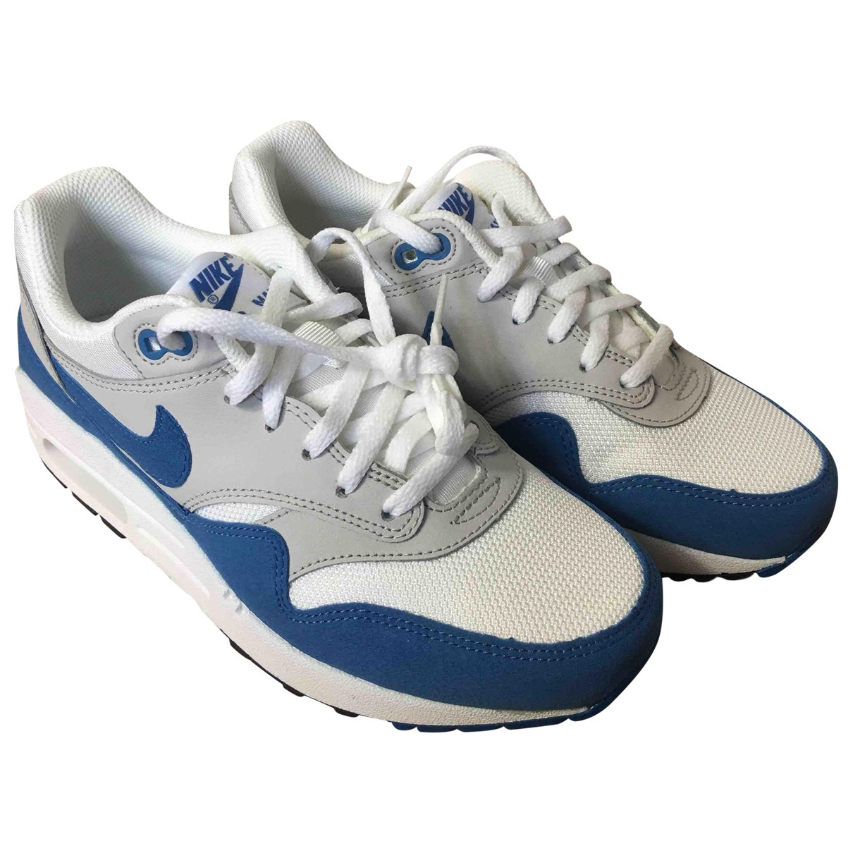 Nike Air Max 1 Blue Suede Trainers for Women 37.5 EU