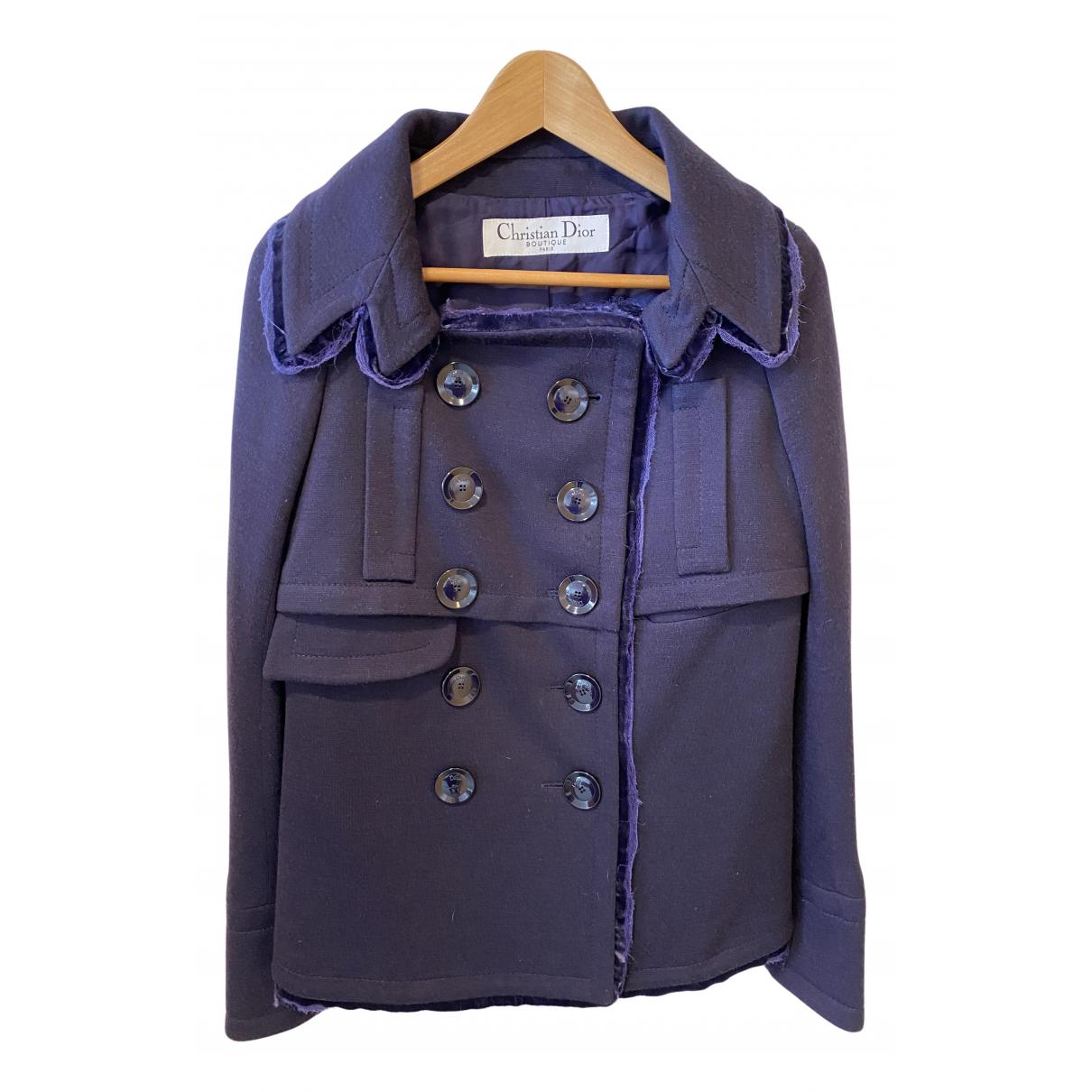 Dior N Purple Wool jacket for Women 36 FR