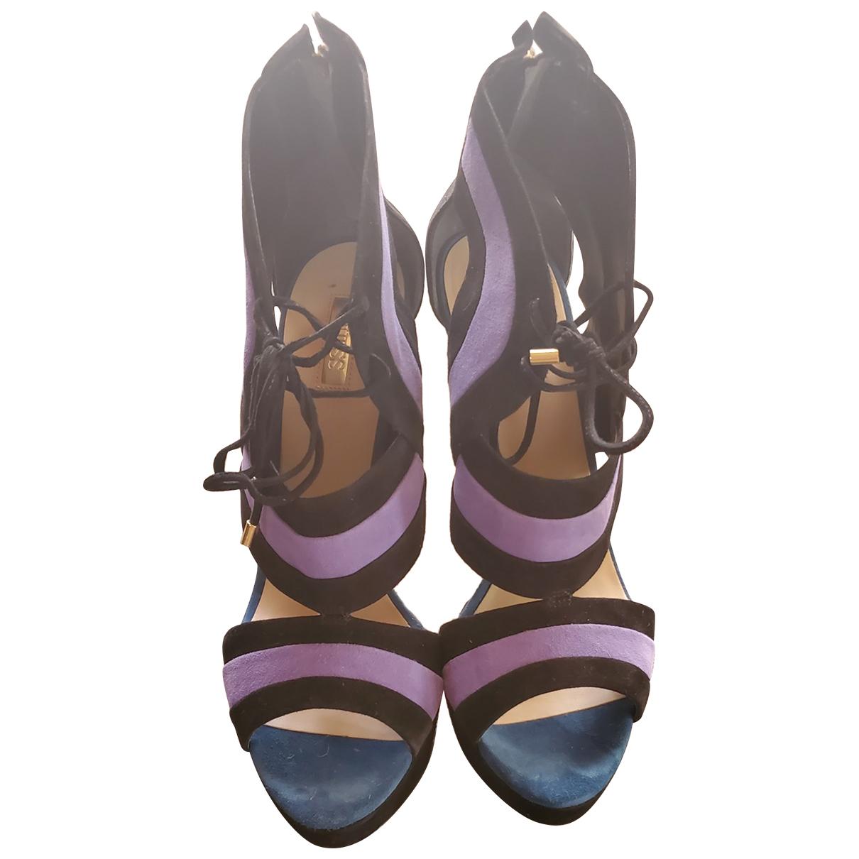 Guess \N Black Suede Heels for Women 41 EU