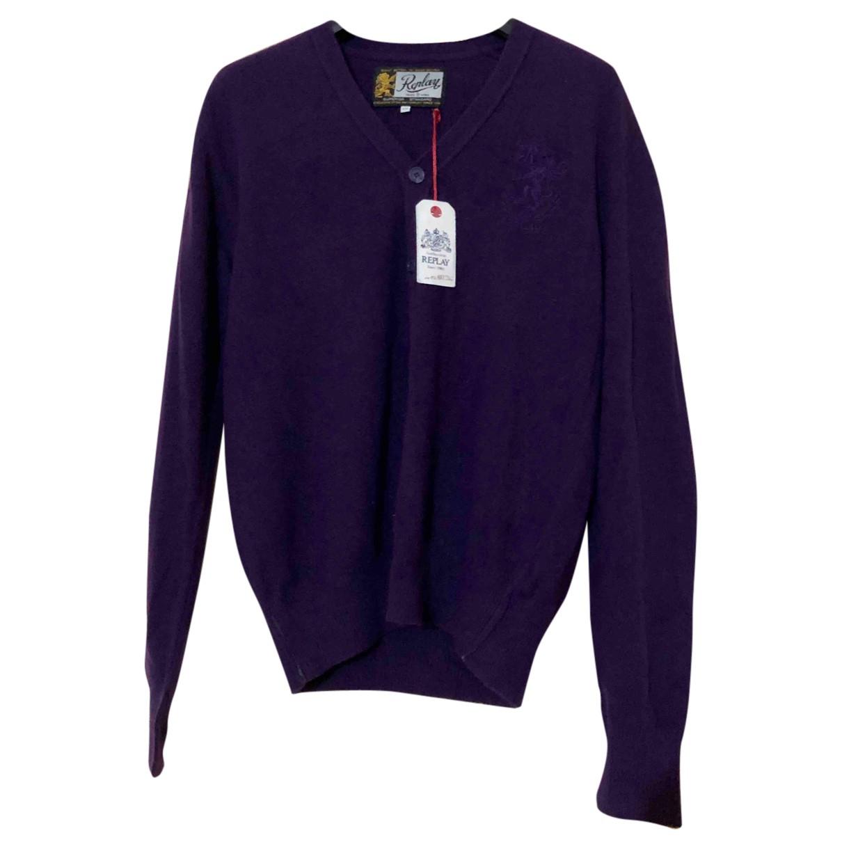 Replay \N Pullover.Westen.Sweatshirts  in  Lila Wolle