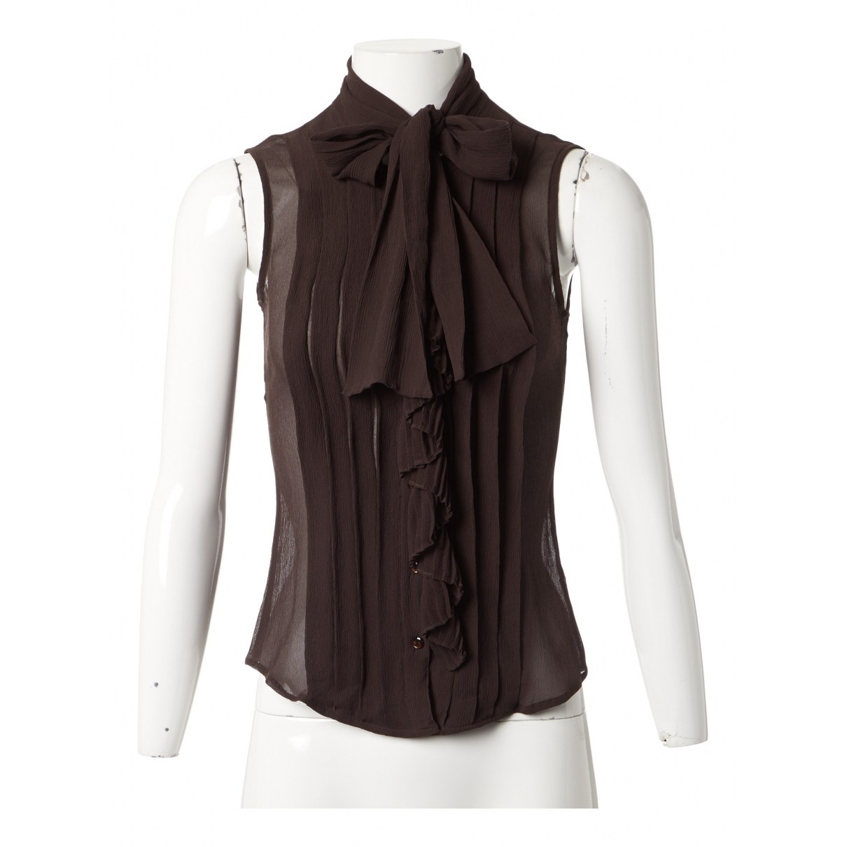 Max Mara N Brown Silk  top for Women 34 FR
