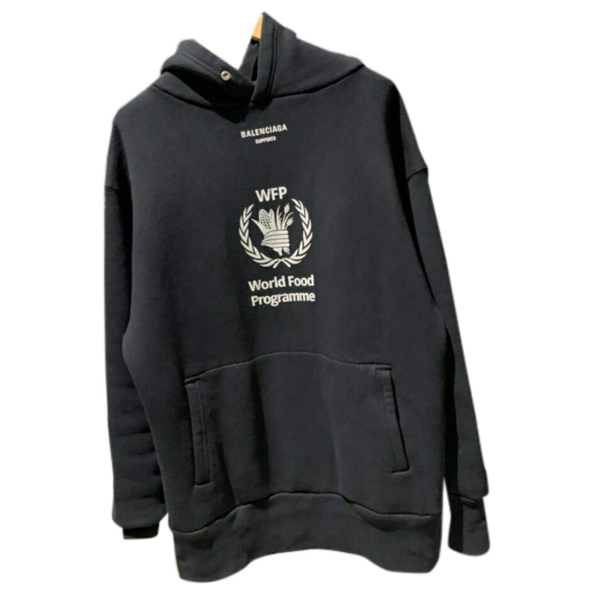Balenciaga \N Pullover.Westen.Sweatshirts  in  Schwarz Baumwolle