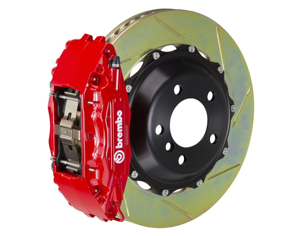 Brembo GT 332x32 2-Piece 4 Piston Red Slotted Front Big Brake Kit