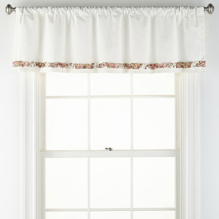 JCPenney Home Amelia Rod-Pocket Tailored Valance, One Size , Multiple Colors