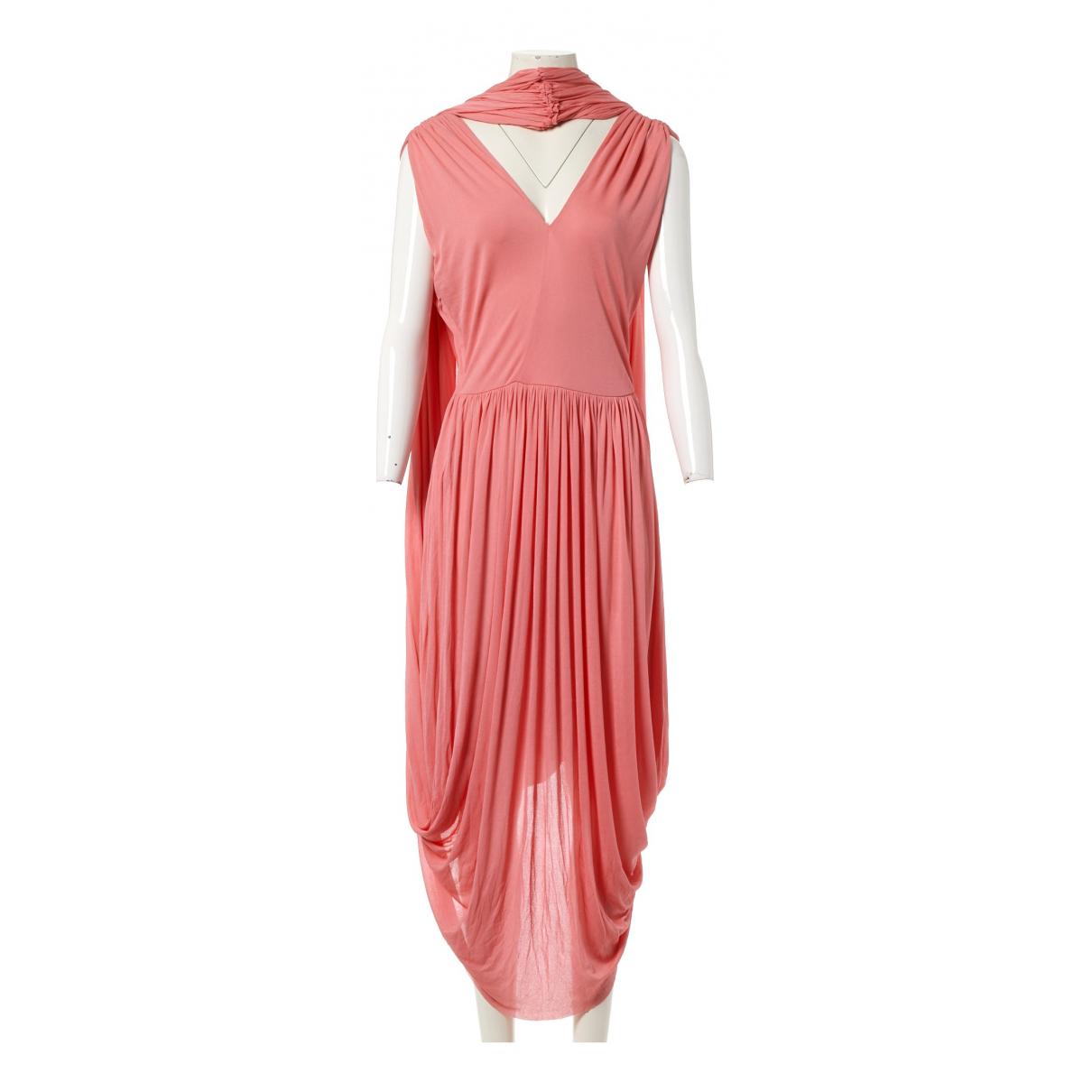 Celine \N Kleid in  Rosa Viskose