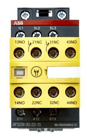 ABB Jokab AFS 3P Safety Relay, 100 → 250 V dc, 100 → 250 V @ 50/60 Hz, 25 A, 600 V ac