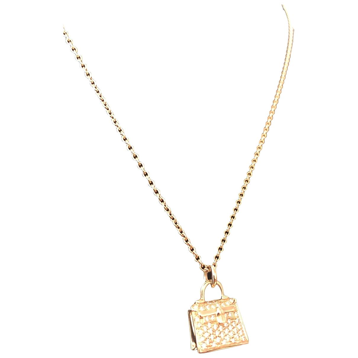 Colgante Kelly de Oro rosa Hermes
