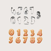 9 Stuecke Nummer formige Form