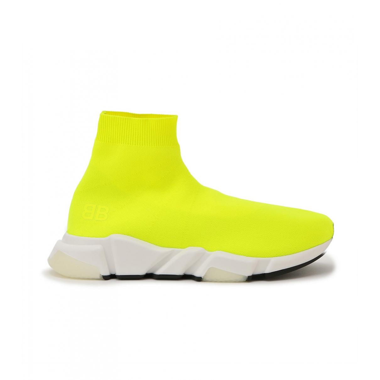 Balenciaga Speed Yellow Cloth Trainers for Men 42 EU