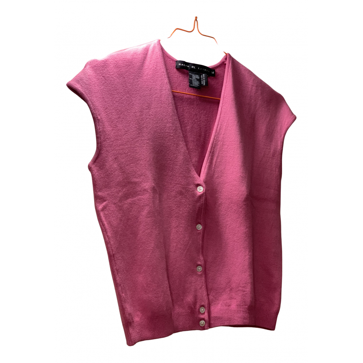 Ralph Lauren - Pull   pour femme en soie - rose