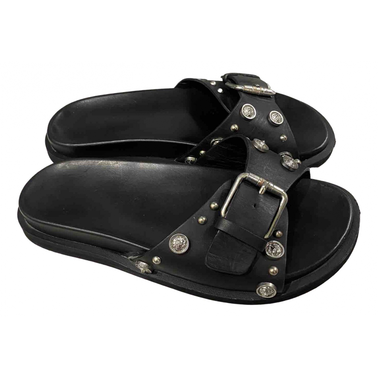 Versus \N Black Leather Sandals for Women 35 EU